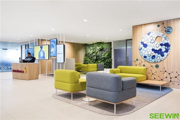 自然清新 阿斯利康悉尼辦公家具設計欣賞