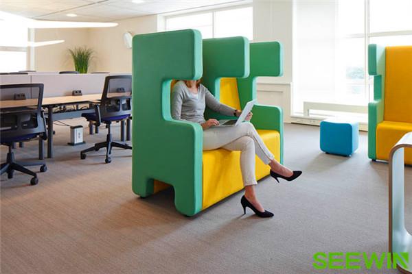 獨特的設計成為辦公空間一道美麗的風景